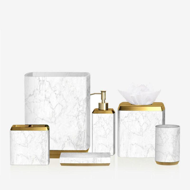 elegant gold bathroom accessories set customized for hotel