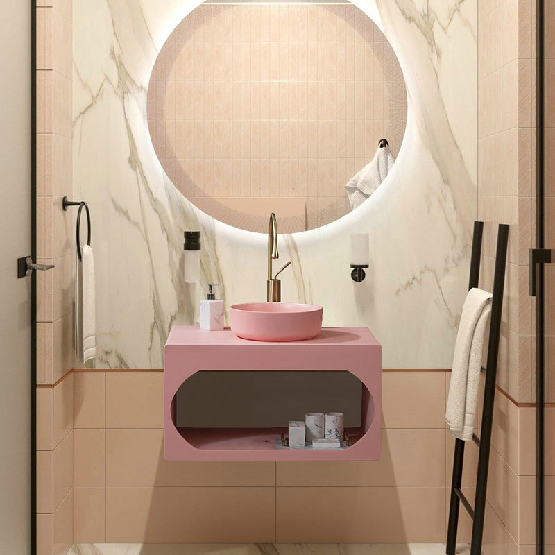 4pcs Elegant White Marble resin Bathroom Accessories Set