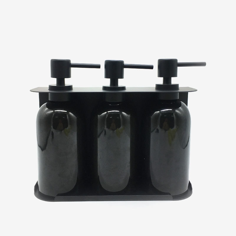 4pcs Matte SS Metal Holder Resin Dispenser Set