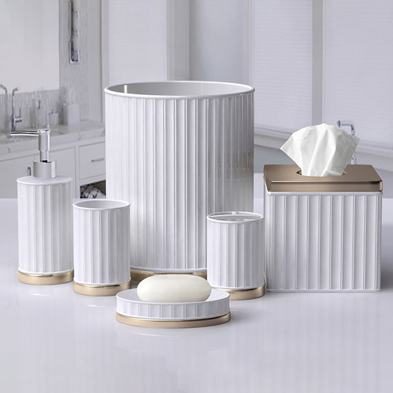 quality white bathroom accessories design for restroom-2
