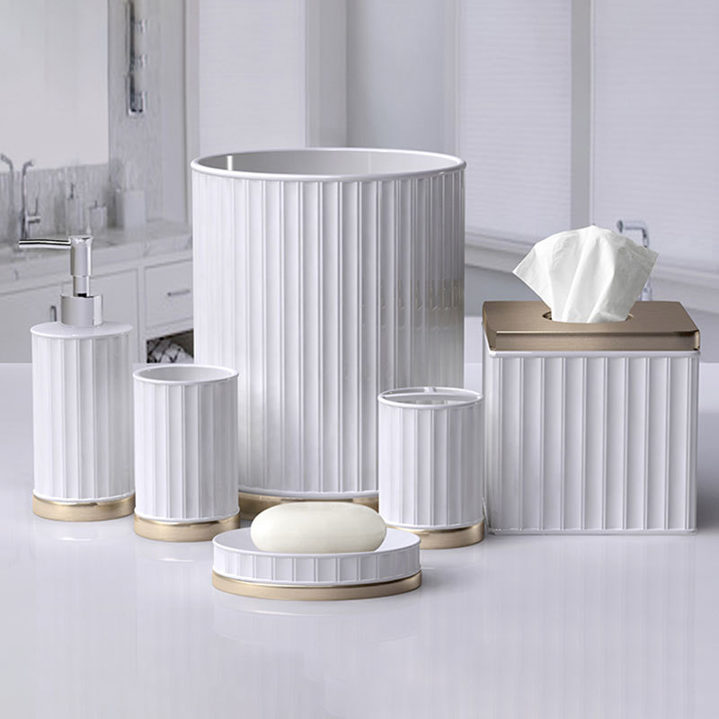 Modern White Ceramic Bathroom Accessories Set for Home