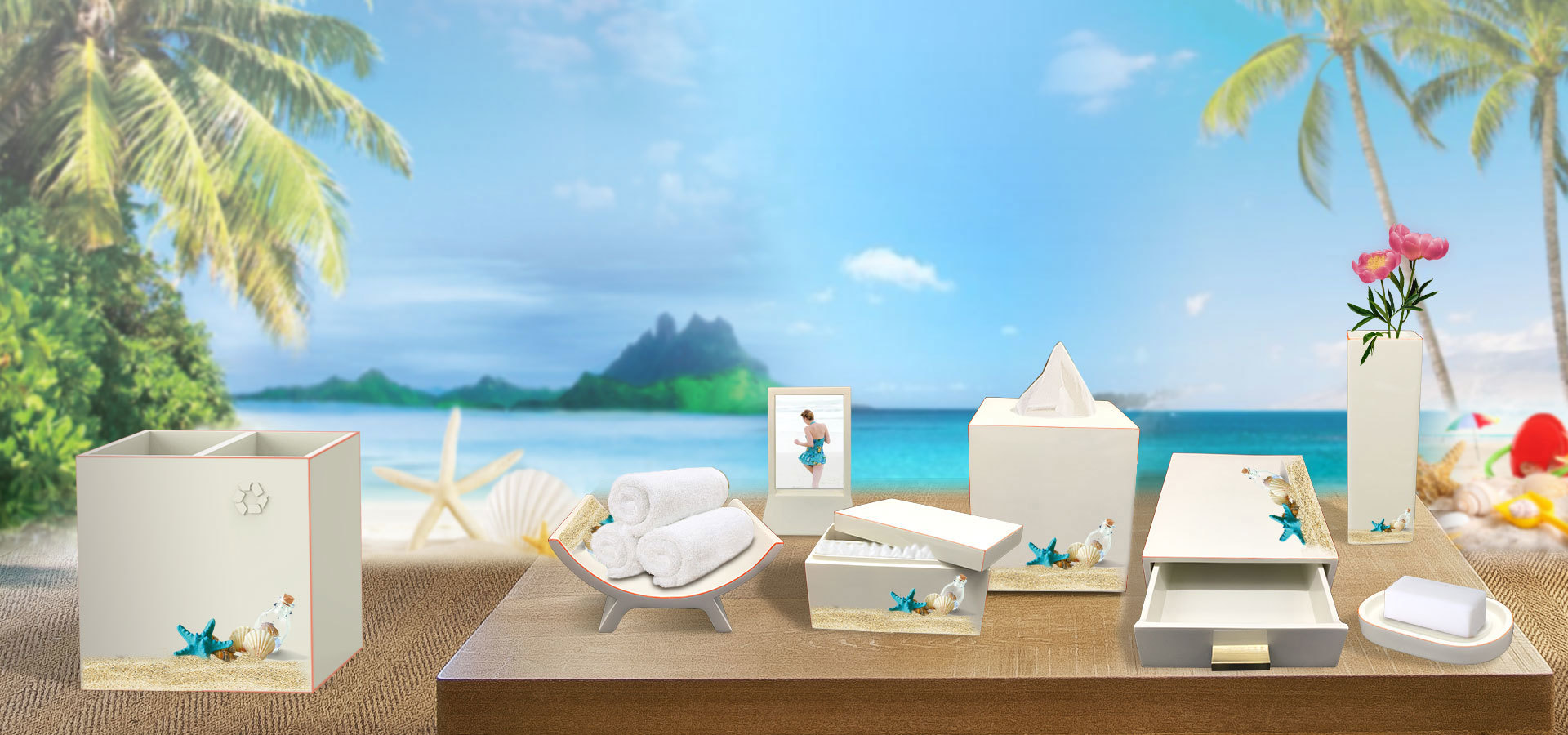 Hotel or Resort Collection Bathroom Accessories Set