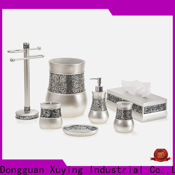 Xuying Bathroom Items fashion black and white bathroom accessories on sale for restroom