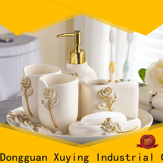 Xuying Bathroom Items black bathroom accessories set wholesale for restroom