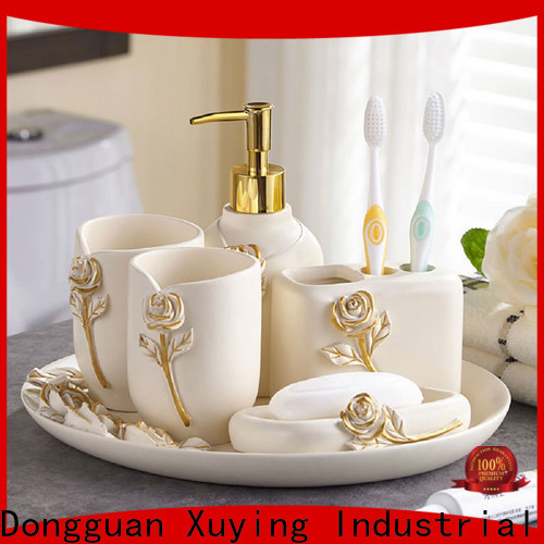 Xuying Bathroom Items fashion black and white bathroom decor wholesale for restroom