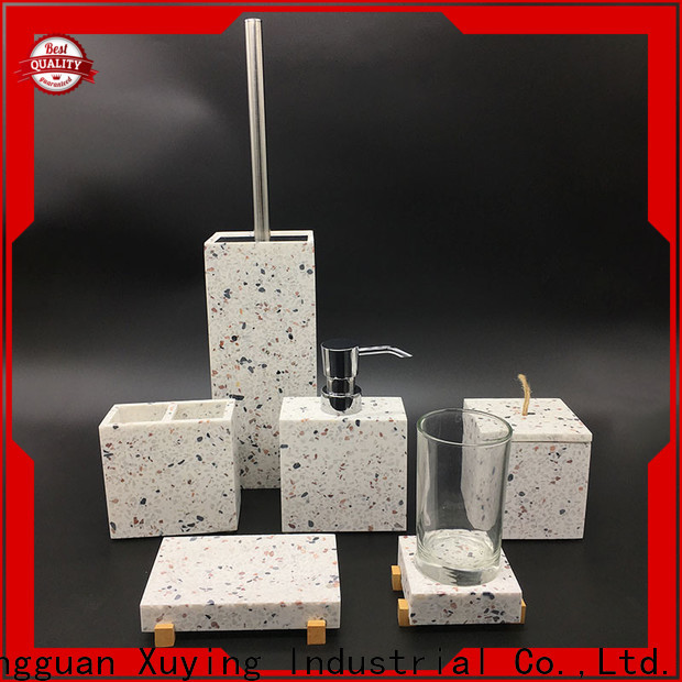 Xuying Bathroom Items fashion rose gold bathroom set customized for hotel