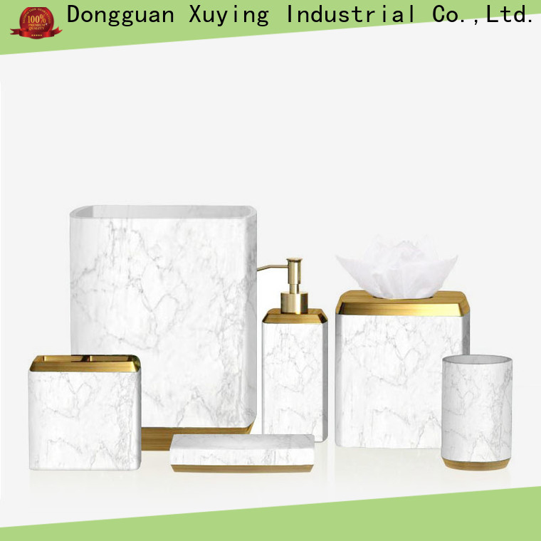 Xuying Bathroom Items elegant black bathroom accessories on sale for hotel