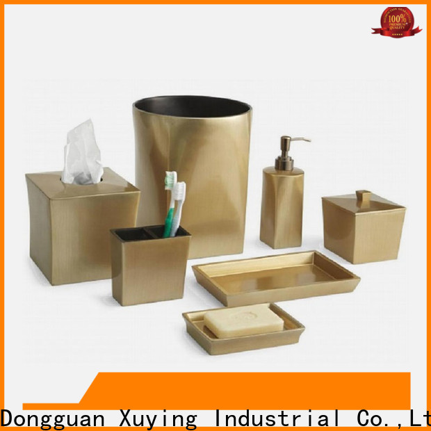 Xuying Bathroom Items durable gold bathroom accessories set manufacturer for hotel
