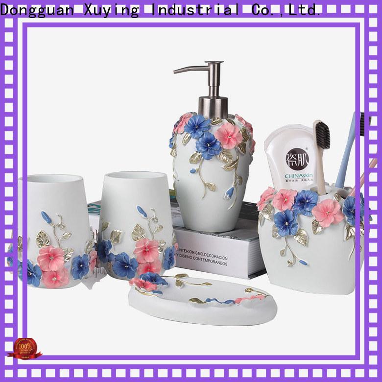 Xuying Bathroom Items elegant black bathroom accessories set customized for bathroom