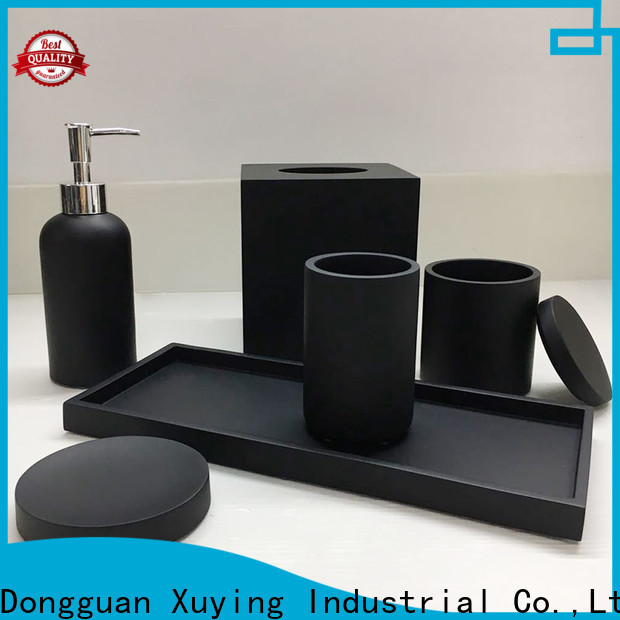Xuying Bathroom Items black bathroom accessories set on sale for hotel