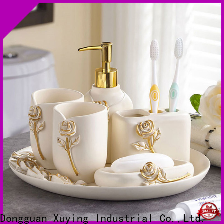 Xuying Bathroom Items modern black and white bathroom accessories wholesale for restroom