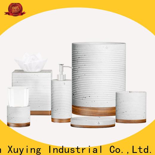 Xuying Bathroom Items modern black bathroom accessories set manufacturer for restroom