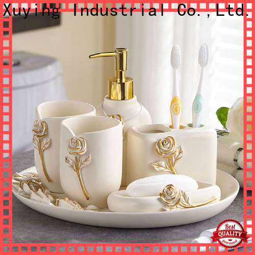 Xuying Bathroom Items elegant black bathroom accessories wholesale for hotel