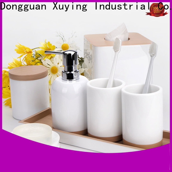 Xuying Bathroom Items black bathroom accessories set wholesale for home