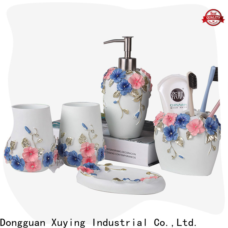 Xuying Bathroom Items modern white bathroom accessories set wholesale for hotel