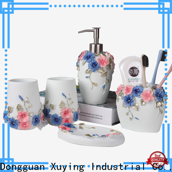Xuying Bathroom Items black and gold bathroom on sale for hotel