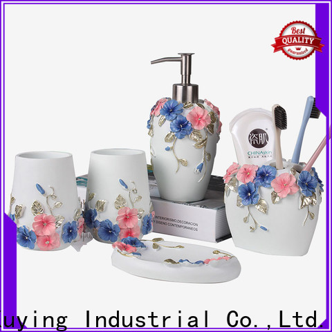 fashion white bathroom accessories set customized for restroom