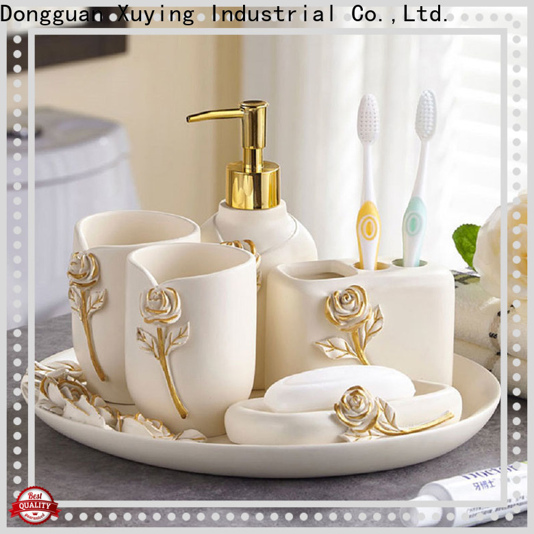 Xuying Bathroom Items black bathroom accessories set customized for home