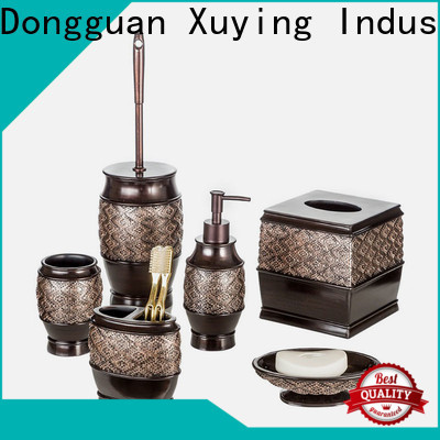 Xuying Bathroom Items fashion black and gold bathroom manufacturer for restroom
